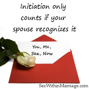 Initiation only counts if your spouse recognizes it