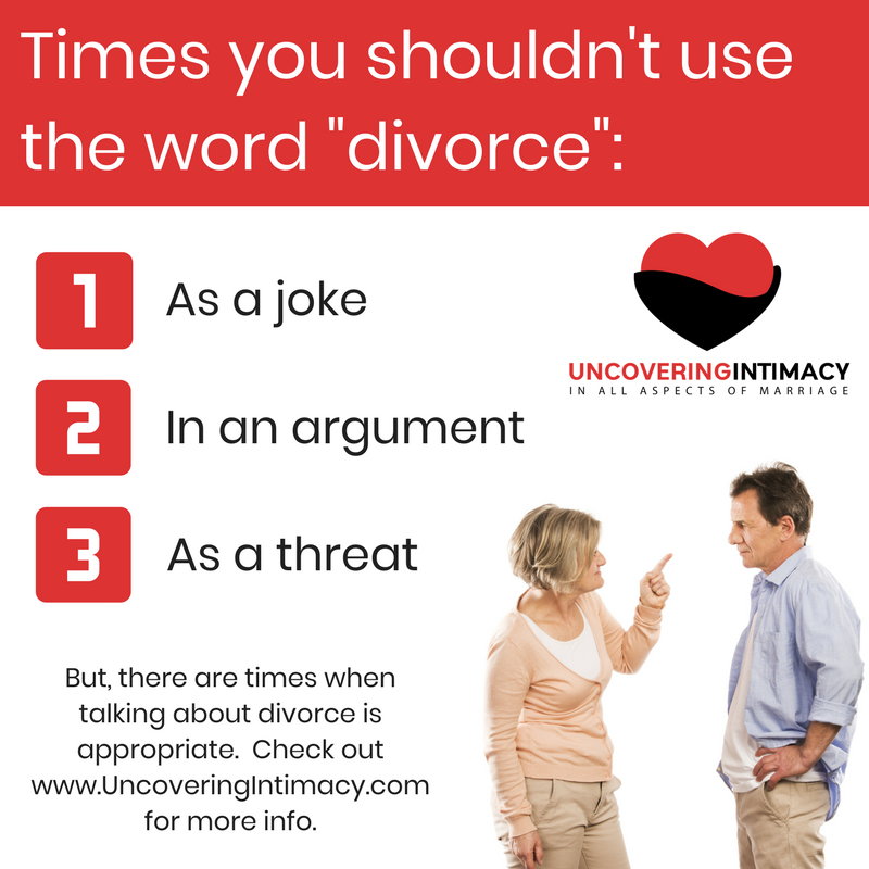 """Times you shouldn't use the word """"divorce"""""""