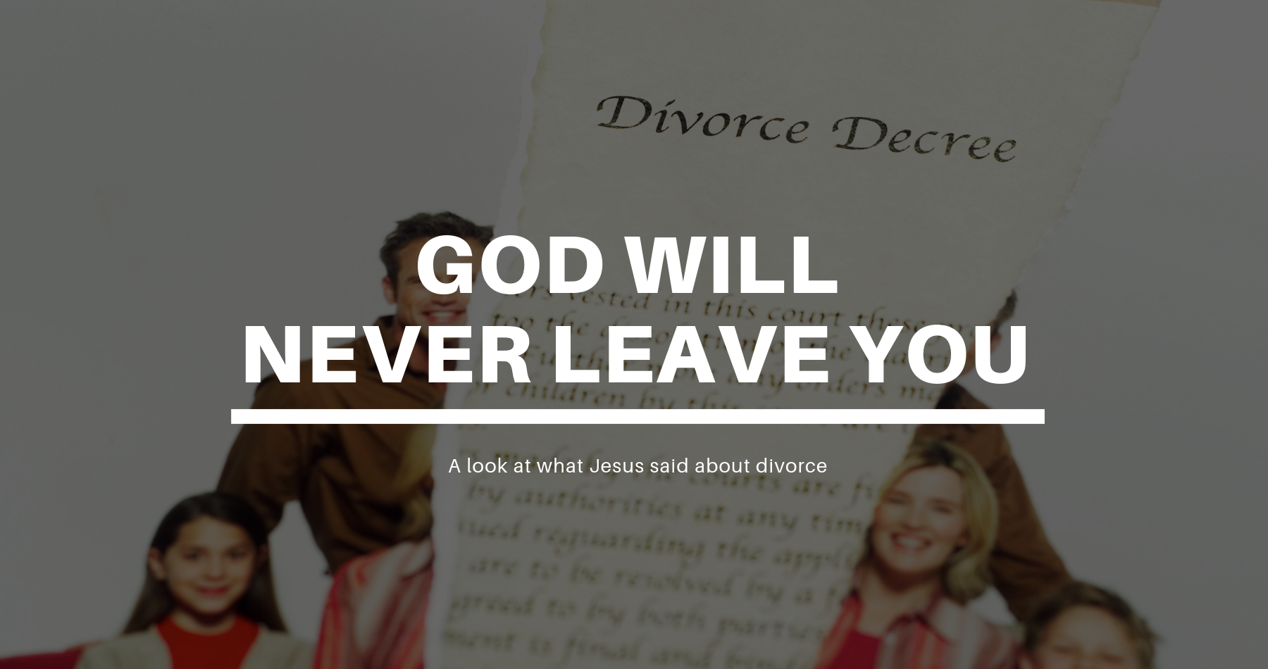 SWM042 - God will never leave you - Uncovering Intimacy