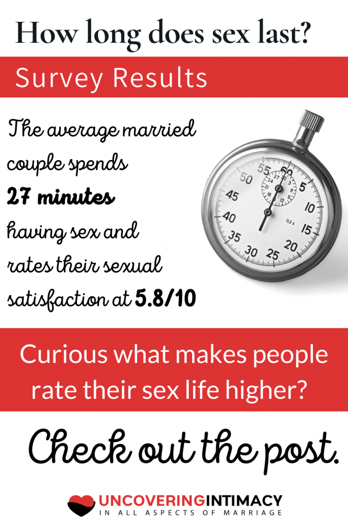 The average married couple spends 27 minutes having sex and rates their sexual satisfaction at 5.8/10
